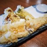 江戸蕎麦ほそ川 - あなご天ぷら
