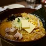 白樺山荘 - 味噌ラーメン+バタコン