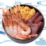 海鮮丼の浦島 - 【うに・本まぐろ・甘えび】