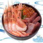 海鮮丼の浦島 - 【いくら・本まぐろ・甘えび】