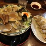 節系とんこつらぁ麺 おもと - 海の香りたっぷり貝そば:大盛り