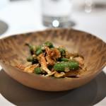 中国料理 東弦京 - 桜海老とインゲンの香り炒め