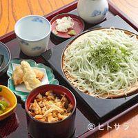 長寿庵 蕎匠 - 季節の変わりそば写真は『しそ切り』、季節の味をお楽しみ下さい