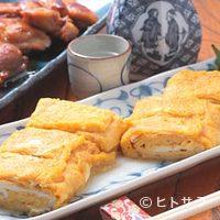 長寿庵 蕎匠 - ボリュームたっぷり、そば屋のダシが効いた熱々の玉子焼。