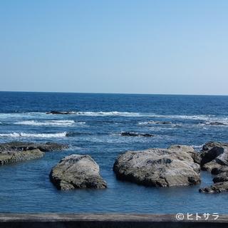 綺麗な海を見ながら