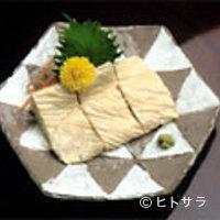 奈良田本店 - 当店自家製生湯葉の刺身