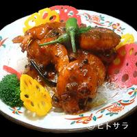 奥快餐 - エビチリソース炒め