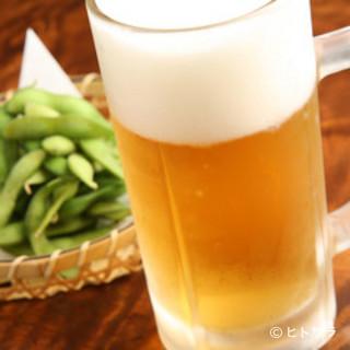 緑の中で味わうビールは格別!