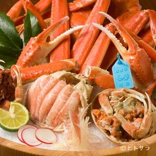 ズワイ蟹・甲箱蟹、治部煮などなど北陸のご当地グルメもご用意