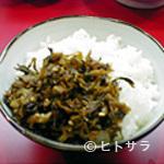 長浜屋台 やまちゃん - 瀬高産の辛し高菜は絶品!