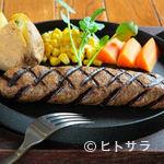 ハンバーグ専門店 IZUTSUYA - 新鮮和牛100%だからこそ、「ミディアムレアのハンバーグ」