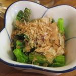 立呑み 魚平 - 菜の花おひたし