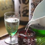 渋谷 更科 - そばに合う日本酒を、季節ごとの御用意しております。