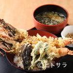 漁師料理 かなや - 『おばけ海老天丼』などジャンボメニューがズラリ