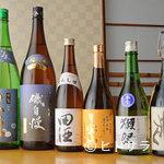 季節料理 漁亭 - 日本酒/焼酎厳選して取り揃えております。