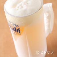 漁師料理 かなや - 美味い刺身には、キンキンに冷えたビールを