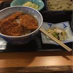 里味 - 料理写真:タレカツ丼そばセット