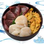 海鮮丼の浦島 - 【いくら・本まぐろ・活ほたて】