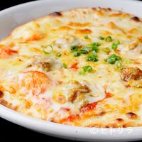 さんたべーる - 地元グルメ・奥美濃カレー認定の郡上肉みそカレーのピザ