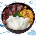海鮮丼の浦島 - 【いくら・本まぐろ・えんがわ】