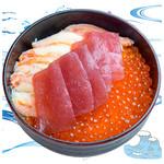 海鮮丼の浦島 - 【いくら・ズワイカニ・本まぐろ】