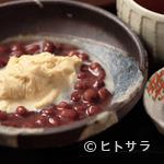 湯葉丼 直吉 - レアメニュー、「湯葉ぜんざい」