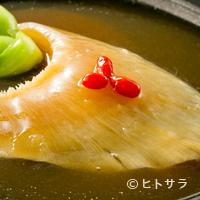 梨杏 - 当店の人気メニューのひとつ『ふかひれの姿煮込み』