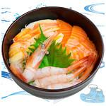 海鮮丼の浦島 - 【ズワイカニ・サーモン・甘えび】