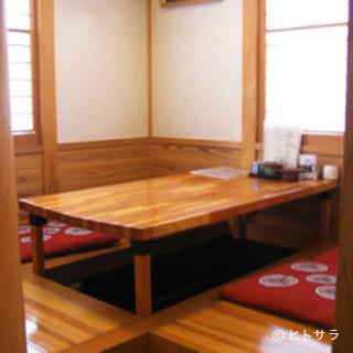 【個室/掘りごたつ】2名様〜完備、コース3500円〜好評です