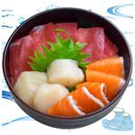 海鮮丼の浦島 - 【本まぐろ・サーモン・活ほたて】
