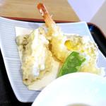 蕎麦 二天 - 天ぷらのアップ