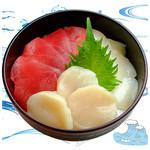 海鮮丼の浦島 - 【本まぐろ・活ほたて・いか】