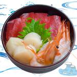 海鮮丼の浦島 - 【本まぐろ・活ほたて・甘えび】