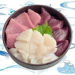 海鮮丼の浦島 - 【本まぐろ・活ほたて・中トロ】