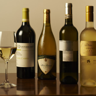 300本のワインの中からお好きなものがお選び頂けます。