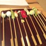 ラッキー酒場 - 天ぷらコースのお野菜。見た目だけでなくお味も感激しました。