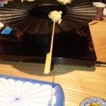 ラッキー酒場 - 自分で、ころもを付けて揚げる天ぷら、楽しくて美味しくて最高でした。