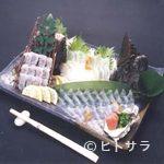 魚筍 - ひらめの薄造り