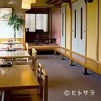 川善 - テーブル4席は車イスの方でもご利用頂けます。