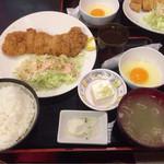 きくや - チキンカツ定食600円
