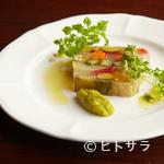 閏 - ゼリー状に固めた『彩り野菜のテリーヌ』