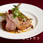 Ristorante 美郷 - 『骨付き仔羊ロース肉のグリル ウイキョウのパルミジャーノ添』