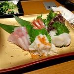 65100012 - 鮮魚の御造り盛り合わせ・五点盛り(1,490円+税)