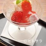 祇園 なん波 - アイスクリームやゼリー、ソースまで料理人オリジナルの『水物』