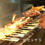 秋田比内や - 串焼き 一枚焼き