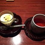 65104458 - 彩り二色重(一部・究極のプリン、お茶)