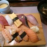 魚屋 - 17/4 寿司10貫定食:880円(税別)