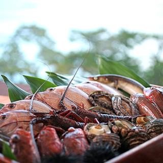 御食国・淡路島から活きたまま直送される魚介類