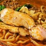 担担麺の掟を破る者 - 黄金の鰹出汁 南香梅と大葉と鶏(鶏)