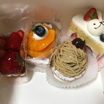ジュタロウ - 苺タルト、柑橘のタルト、モンブラン、苺ショート